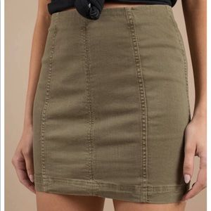 TWO TONED modern femme skirt free people
